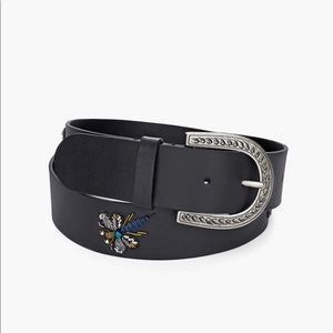 NWT Chico's Embellished Dragonfly Leather Belt